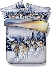 Sticker superb Snow Wolves Wolf Duvet Cover Set