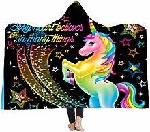 Sticker Superb Warm Fluffy Blanket, 3D Unicorn