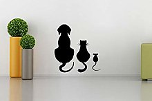 Stickers Funny Dog Cat Mouse Vinyl Mural Wall