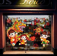Stickers New Year Glass Stickers Door Stickers
