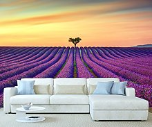 StickersWall Field of Purple Lavender Flowers