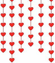 Stiesy Non-Woven Fabric Red Heart Hanging String