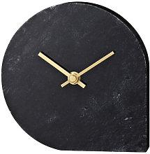 Stilla Desk clock - Marble - H 16 cm by AYTM Black