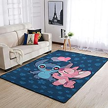 stitch and angel love Area Rug Patterned Puffy