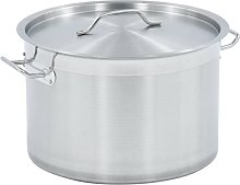 Stock Pot 23 L 35x22 cm Stainless Steel - Silver -