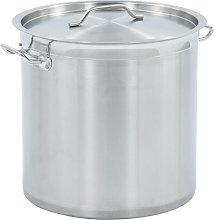 Stock Pot 33 L 35x35 cm Stainless Steel - Silver -