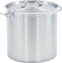 Stock Pot 50 L 40x40 cm Stainless Steel - Silver -