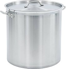 Stock Pot 98 L 50x50 cm Stainless Steel - Silver -