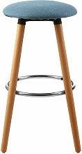 Stockholm Blue Round Bar Stool - Premier Housewares