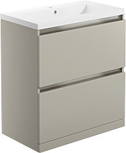 Stockholm Floor Standing 2-Drawer Vanity Unit with