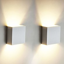 Stoex - 2 Pack 6W LED Wall Light Up Down Indoor