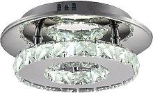 Stoex - 20CM Modern Led Ceiling Light Luxury Clear
