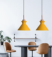 Stoex - 2X Modern Pendant Light Yellow Indoor