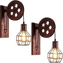 Stoex - 2x Vintage Wall Lamp Creative Retro