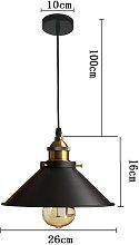 Stoex - 3X 26CM Retro Metal Pendant Light Antique
