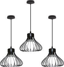 Stoex - 3X Vintage Industrial Pendant Light Black