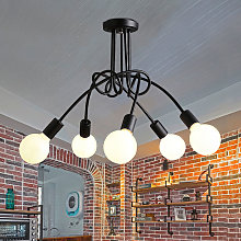 Stoex - 5 Heads Vintage Ceiling Light Industrial