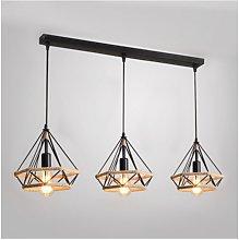 Stoex - Hemp Rope Hanging Lamp Diamond Ceiling