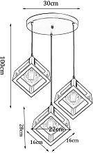 Stoex - Modern Pendant Light Cube Vintage Hanging