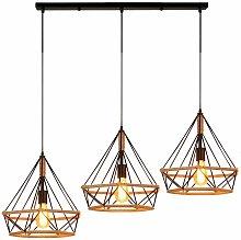 Stoex - Retro Diamond Ceiling Lamp Industrial