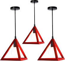 Stoex - Triangle Pendant Light Classic Red Antique