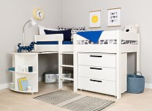 Stompa Mid Sleeper Bed, Desk, Chest and Mattress -