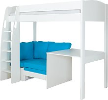 Stompa Uno S Plus High-Sleeper Bed with Fixed Desk