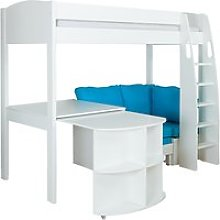 Stompa Uno S Plus High-Sleeper Bed with Pull-Out