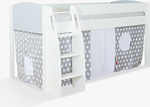 Stompa Uno S Plus Mid-Sleeper Bed with Grey