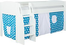 Stompa Uno S Plus Mid-Sleeper Bed with White