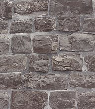 Stone Brick Stone Bricks Fleece Wallpaper Wall