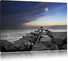 Stone Wall by the Sea Art Print on Canvas East