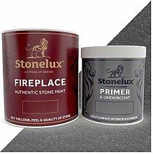 StoneLux 1 Litre Fireplace Stone Coating & 500ml
