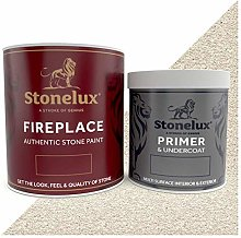 Stonelux® Fireplace Paint - Stone Effect