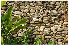 Stonewall of Nature Wallpaper East Urban Home