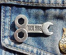 Stoneys Badges Tool Hire Pewter Pin Badge Brooch
