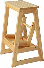 Stool Solid Wood Step Stool Collapsible Shoe Bench