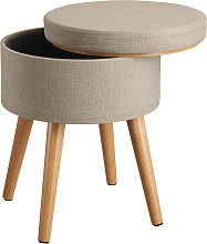 Stool Yara upholstered chair with storage space in