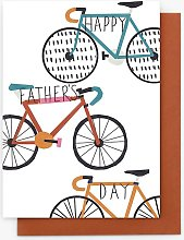 Stop the Clock Design Bikes Father's Day Card