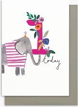 Stop the Clock Design Girl Elephant 1st Birthday