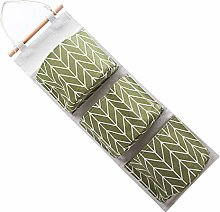 Storage Bag 3 Cotton Pockets Linen Pockets Wall