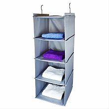 Storage Bag 4 Layers Hanging Wardrobe Clothing