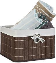 Storage Basket, Fabric Lining, Bamboo,