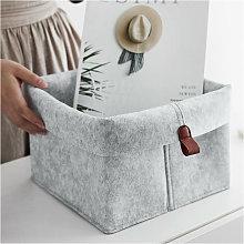 Storage basket for felt debris storage basket for