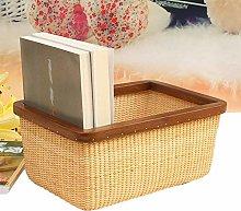 Storage Basket Rattan Woven Basket Bread Food