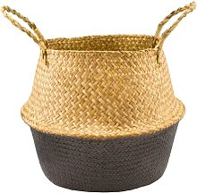 Storage basket, seagrass, foldable, storage