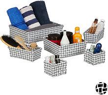 Storage Basket Set of 6, Wicker Look, Organiser