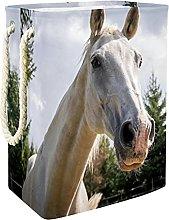 Storage Basket White Horse 03 Nursery Hamper Kids