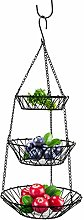 Storage basket Wire Hanging Fruit Basket Home