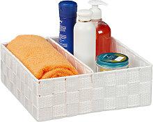Storage Basket with Adjustable Divider Panel,